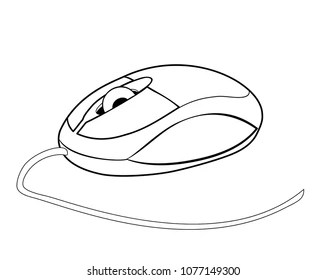 Computer Mouse Drawing Images, Stock Photos & Vectors