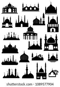 Mosque Silhouette Vector : mosque, silhouette, vector, Mosque, Silhouette, Images,, Stock, Photos, Vectors, Shutterstock