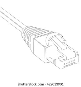 Ethernet Cable Icon Images, Stock Photos & Vectors