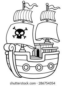 Pirate Ship Cartoon Images, Stock Photos & Vectors