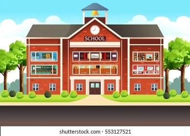 school building images stock