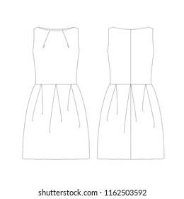 Benzer Draped formal dress. Fashion Illustration, CAD
