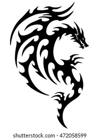 tribal dragon tattoo images
