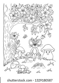 Garden Coloring Pages Images, Stock Photos & Vectors