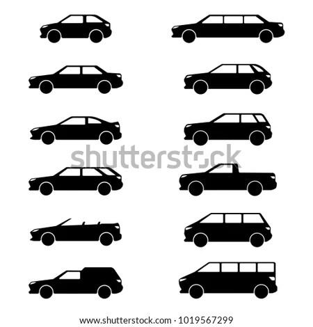 Vector Image Car Body Types Hatchback Stock Vector
