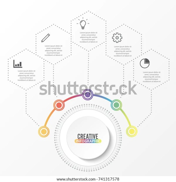 Vector Infographic Template 3d Paper Label Stock Vector