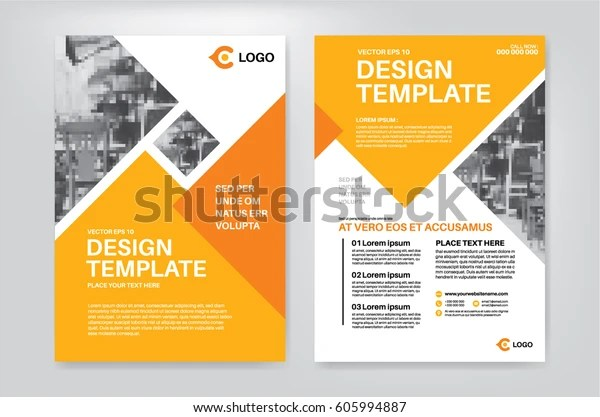 Vector Layout Design Template Leaflet Poster Stock Vector (Royalty Free) 605994887