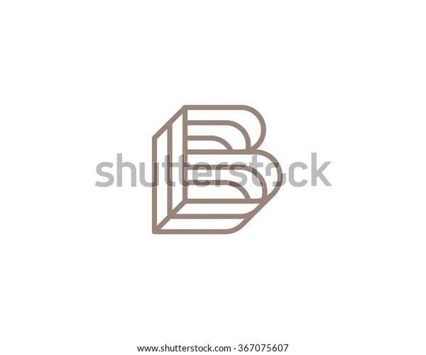 Vector Logo Modern Style Stylized Letter Stock Vector