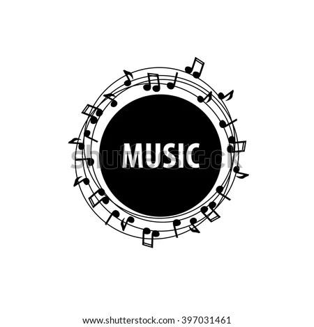 Vector Logo Music Stock Vector (Royalty Free) 397031461