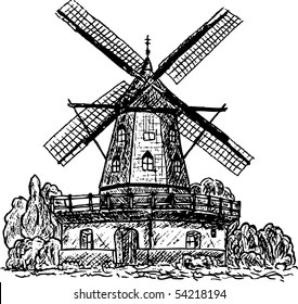 Similar Images, Stock Photos & Vectors of Mill in rural