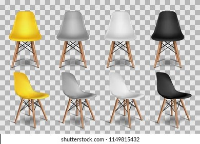 chair design wallpaper countertop height kitchen chairs images stock photos vectors shutterstock vector realistic 3d illustration of yellow white gray black isolated on