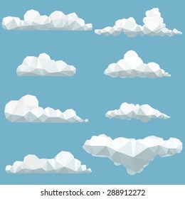origami clouds images stock