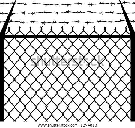 Vector Silhouette Graphic Depicting Chain Link Stock