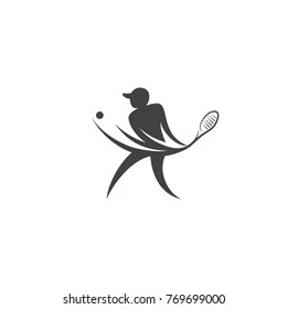 tennis player graphic Images, Stock Photos & Vectors