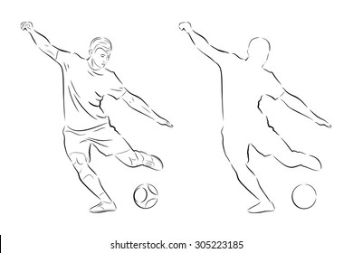 Football Sketch Stock Images, Royalty-Free Images