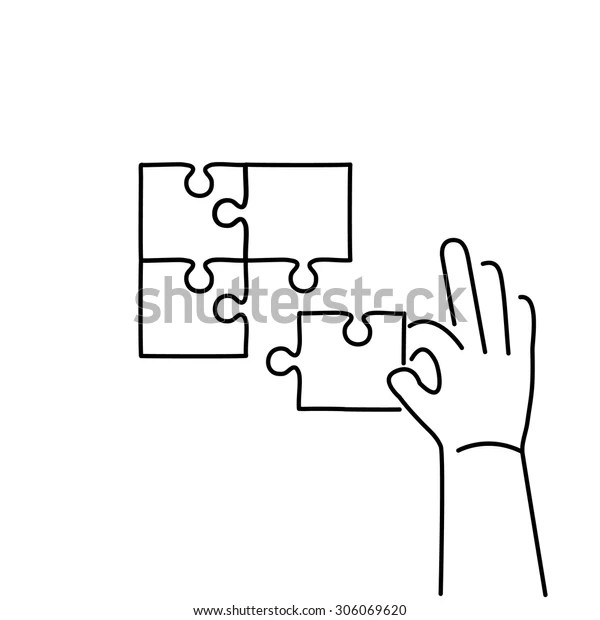 Vector Skills Icon Building Puzzle Finding Stock Vector