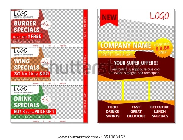 vector template doublesided flyers