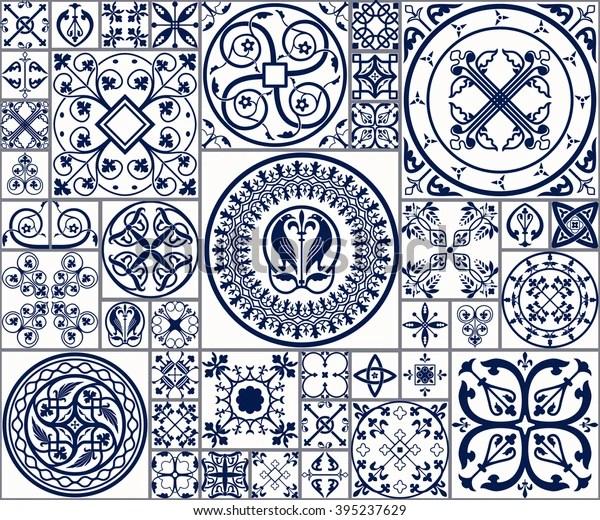 https www shutterstock com image vector vector tiles moroccan seamless pattern tile 395237629
