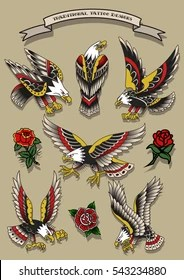 American Traditional Tattoos Flash