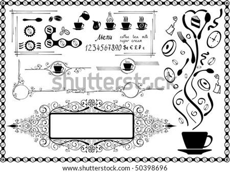 vectorized ornate blackwhite design