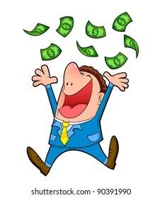 Money Cartoon Images : money, cartoon, images, Spending, Money, Cartoon, Stock, Images, Shutterstock