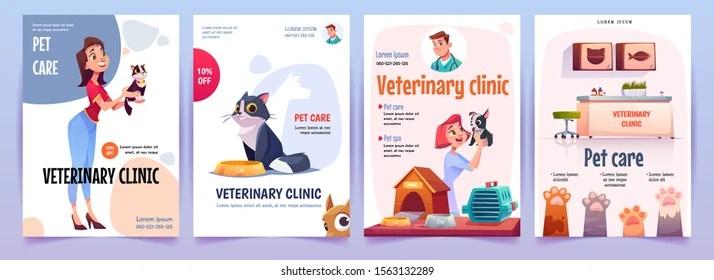 https www shutterstock com image vector veterinary clinic banners set vet service 1563132289
