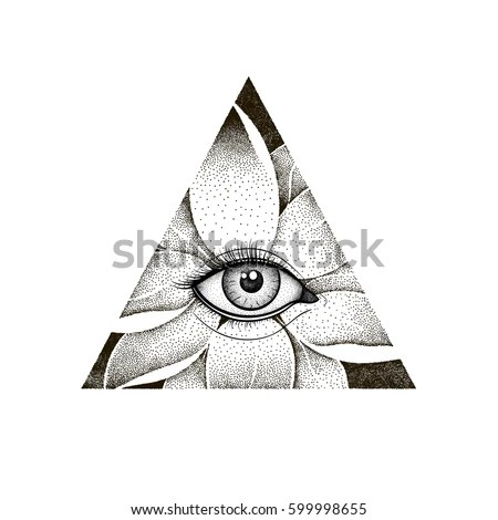 Triangle With Lotus Flower Tattoo