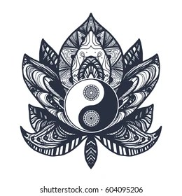 Tribal Yin Yang Images Stock Photos Vectors Shutterstock