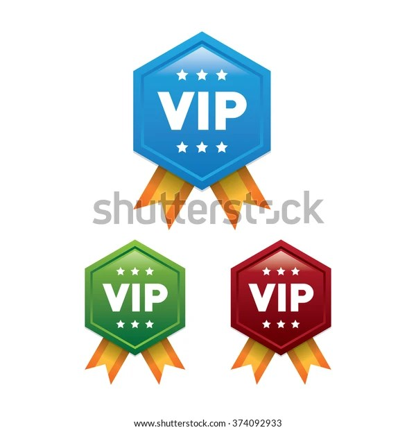 vip badges ribbons stock