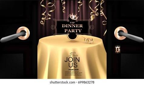https www shutterstock com image vector vip dinner party invitation card opened 699863278