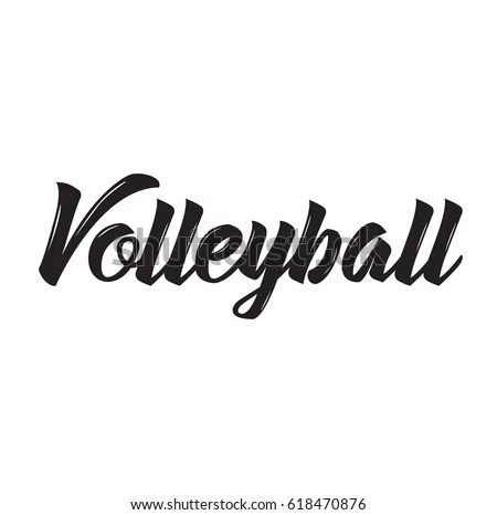 Volleyball Text Design Vector Calligraphy Typography Stock