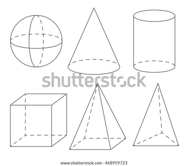 Image vectorielle de stock de Volume Geometric Shapes