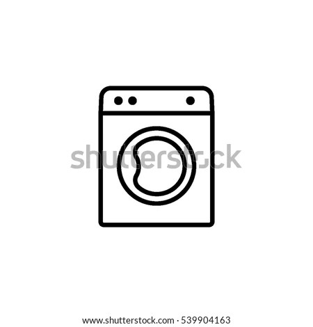 Washing Machine Outline Icon Laundry Icon Stock Vector