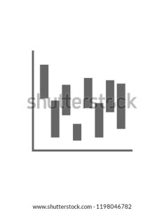 Waterfall chart icon simple glyph vector of charts and diagrams set for ui ux also stock royalty free rh shutterstock