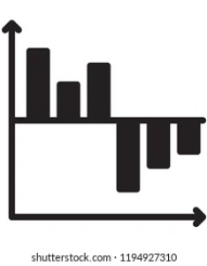Waterfall chart isolated line vector icon also royalty free images stock photos  vectors rh shutterstock