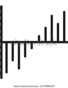 Waterfall chart isolated line vector icon also stock royalty free rh shutterstock