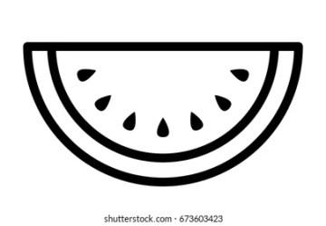Watermelon Outline