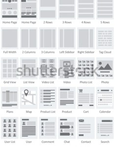 Website flowcharts and site maps ai also stock vector royalty free rh shutterstock