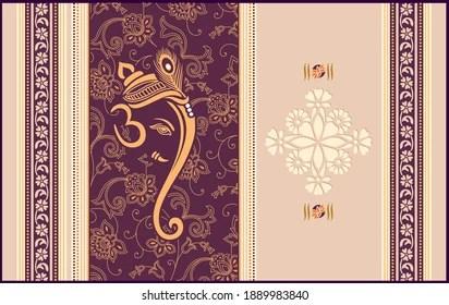 https www shutterstock com image vector wedding invitation card design lord ganesh 1889983840