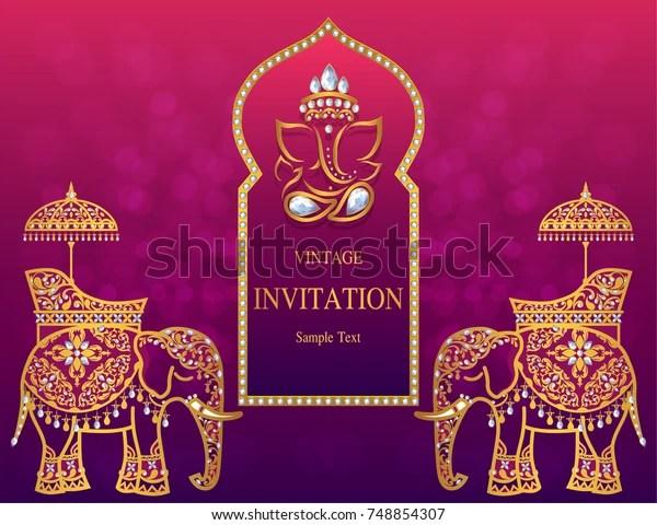 https www shutterstock com image vector wedding invitation card templates gold patterned 748854307