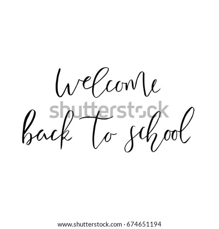 Welcome Back School Template Flyer Magazines Stock Vector