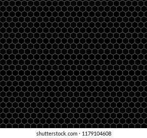 https www shutterstock com image vector white hexagon grid on black seamless 1179104608