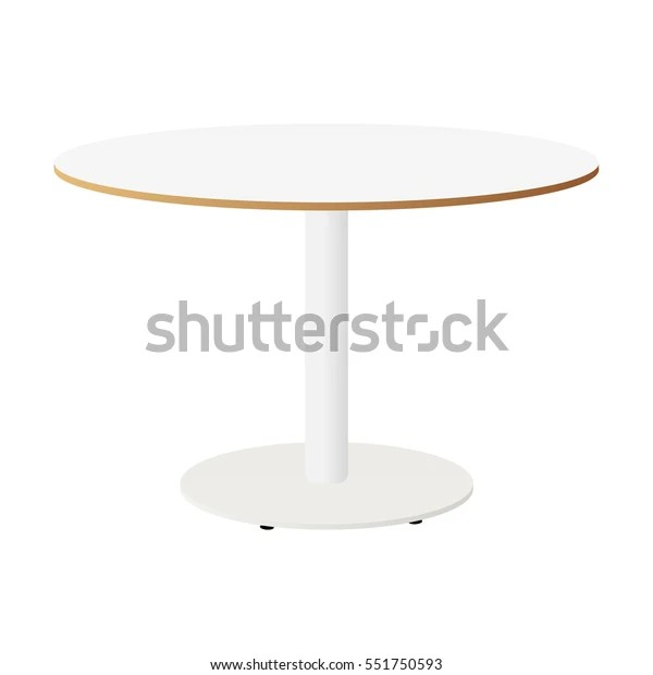 https www shutterstock com fr image vector white round table isolated ikea vector 551750593
