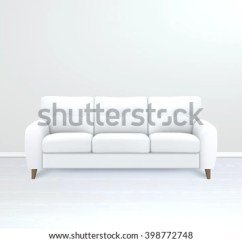 Sofa Art Gallery Reclining With Console White Soft Luxury Leather Modern Stock Vector Royalty Free In Apartment Salon Or Office Interior Realistic