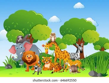 Flora and fauna of tropics. Forest Animals Clipart Images Stock Photos Vectors Shutterstock