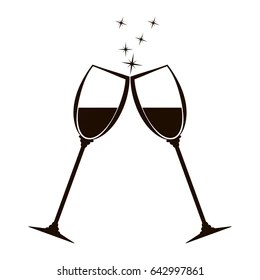 Toasting Wine Glasses Images, Stock Photos & Vectors