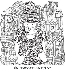 Coloring Pages Girls Images Stock Photos Vectors Shutterstock