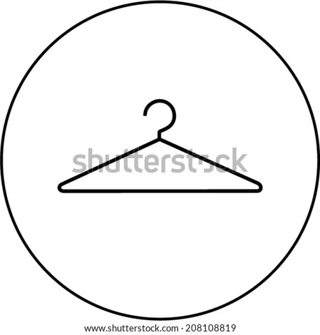 Wire Clothes Hanger Symbol Stock Vector (Royalty Free