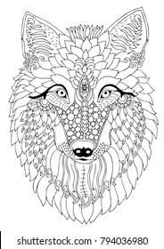Coloring Pages Wolves : coloring, pages, wolves, Coloring, Pages, Stock, Images, Shutterstock
