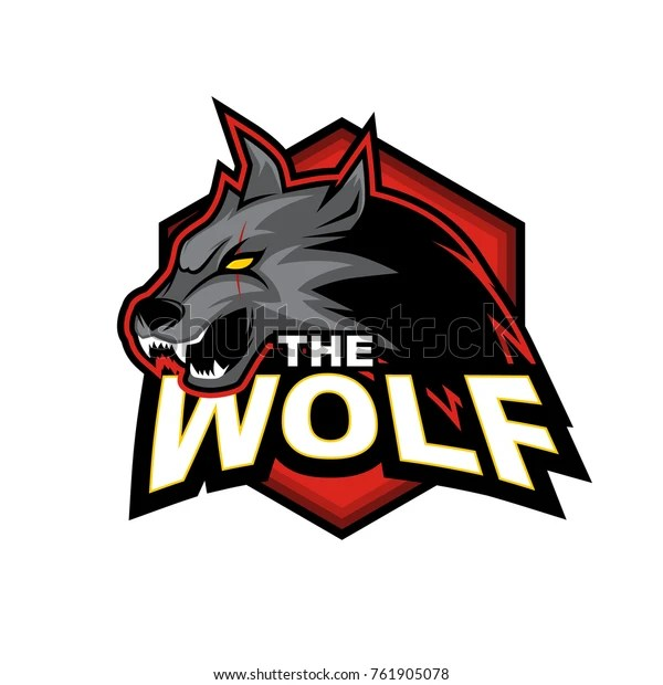 wolf vector logo stock